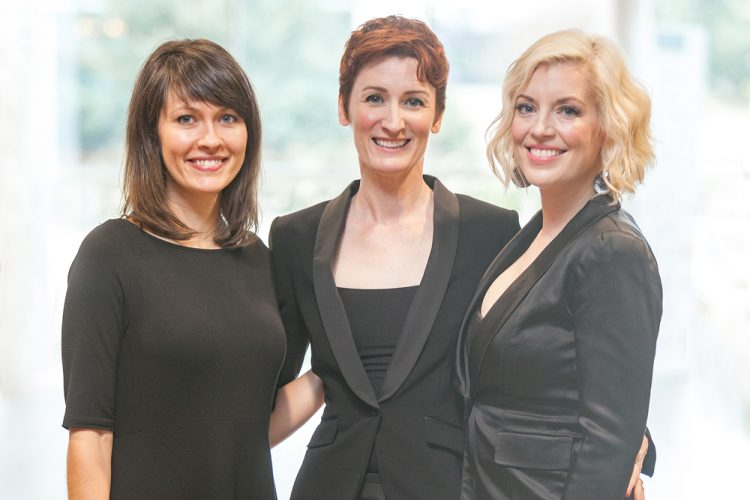 Sopranos Sonja DuToit Tengblad, Stefanie Moore, Mela Dailey