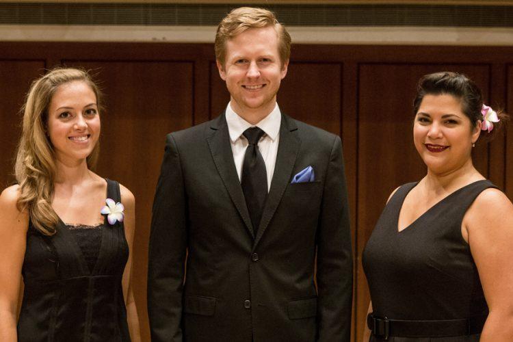 Soloists Lauren Snouffer, Eric Neuville, Laura Mercado-Wright
