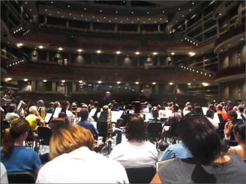 Rehearsing Verdi's Requiem, Dell Hall, June 2008